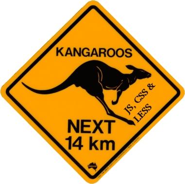 A kangaroo logo of the widget