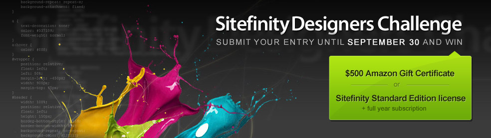 Sitefinity Designers Challenge