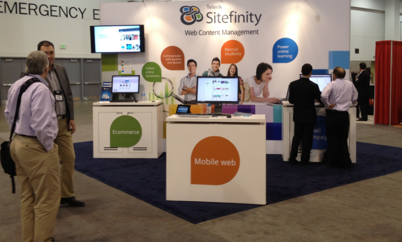Sitefinity booth at EDUCAUSE 2012