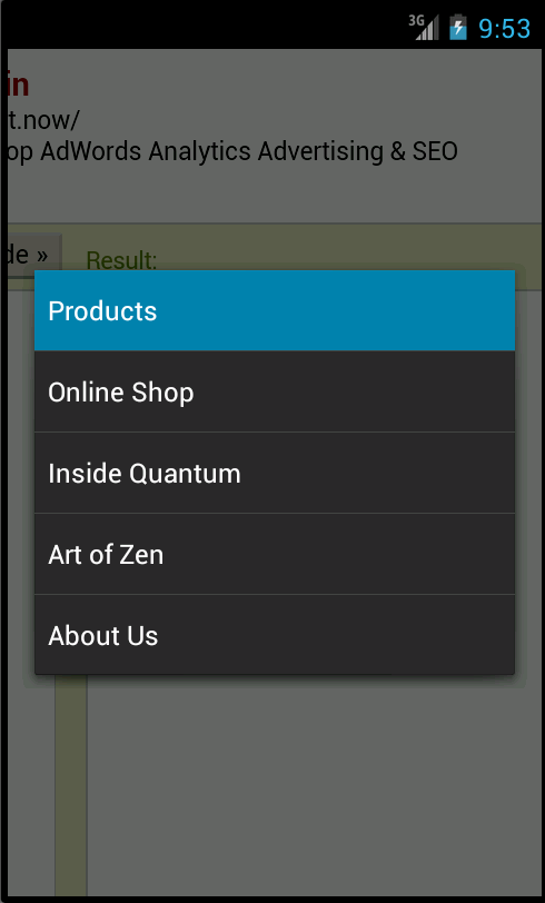 Sitefinity Responsive navigation in Android