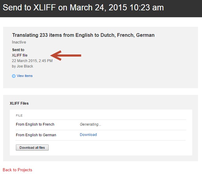 Sitefinity Translations XLIFF Support
