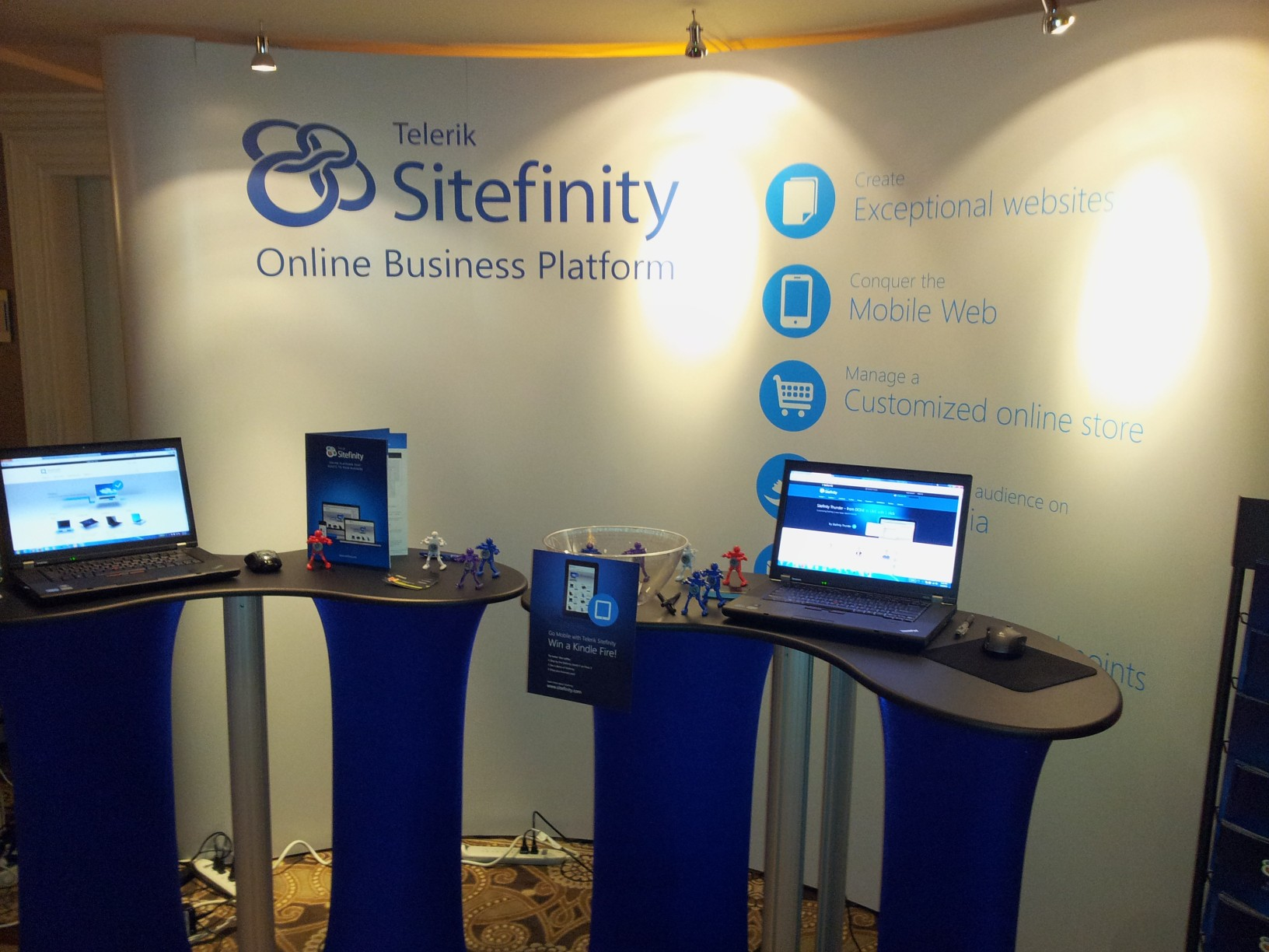 Sitefinity Booth at CMS Expo