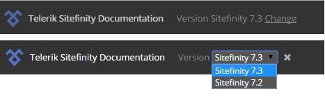 Documentation Versioning