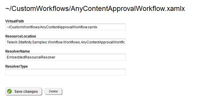 Custom workflow registration with VPP