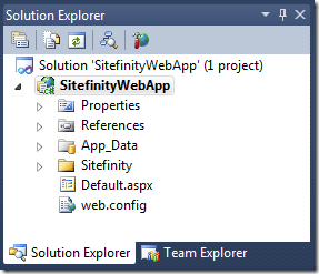 Sitefinity 4.0 Web Application Project