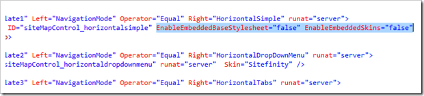 Disabling Embedded (Default) styling for Sitefinity Navigation