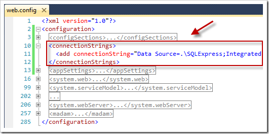 Moving Sitefinity's connectionStrings section to the web.config