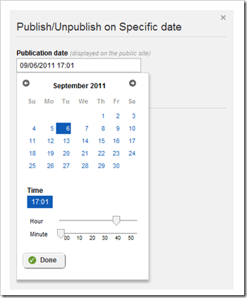 Publish Sitefinity in the past via our patented time travel technology.