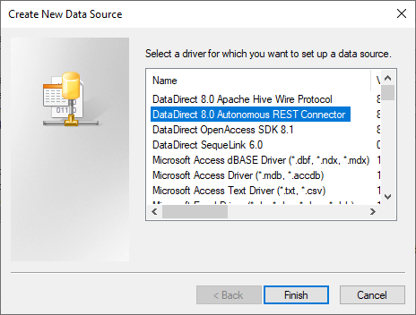 Create New DataSource