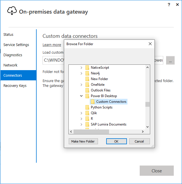 Change Path in Data Gateway