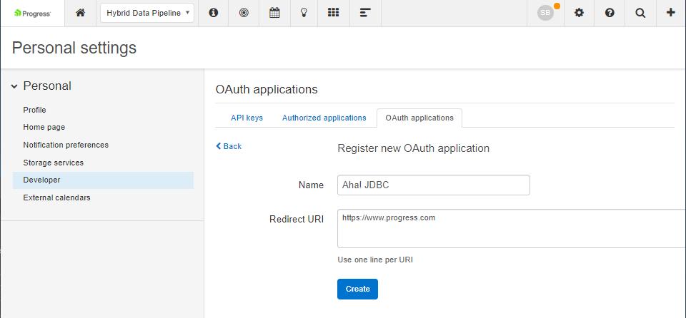 Create OAuth App