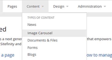 Rotating Image Carousel Sitefinity