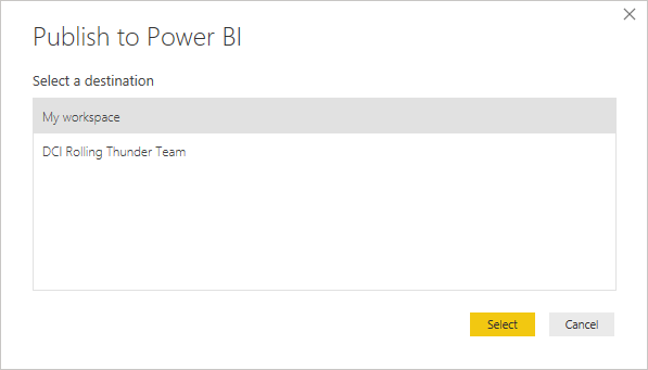 Publish to PowerBI
