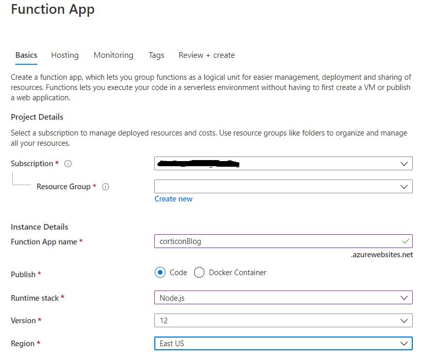 Function App Details