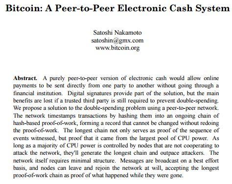 Bitcoin- Original Whitepaper Excerpt