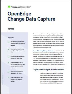 OpenEdge Change Data Capture