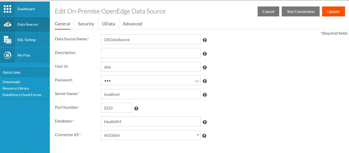 Create a Data Source in DataDirect Cloud