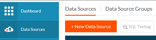 Create New DataSource by choosing 'Data Sources / +New Data Source'