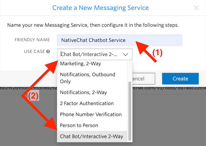 Create New Messaging Service