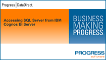 Accessing SQL Server from IBM Cognos BI Server