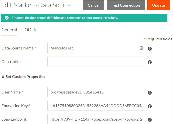 Edit Marketo Data Source