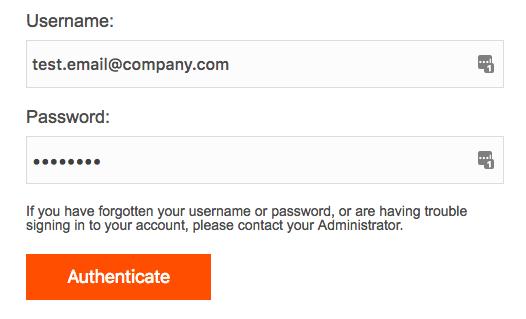 External Authentication Login Okta