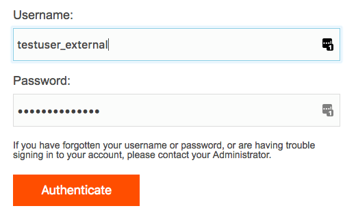 External Authentication Login