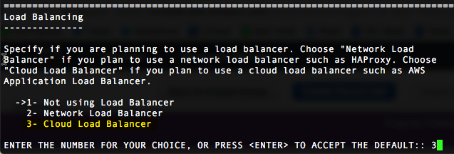 Choose option 3 - Cloud Load Balancer