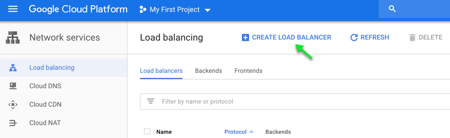 Create load balancer.