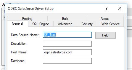 'Host Name' is already filled in with 'login.salesforce.com.'