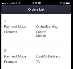 I want to filter based on Order Id and want to retrieve the data of Order whose OrderId is 1