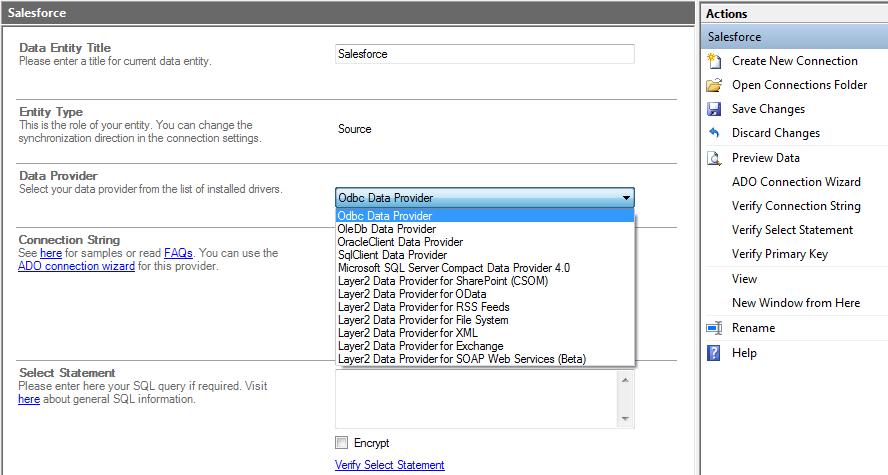 "Configure ""Source"" under Data Entities"