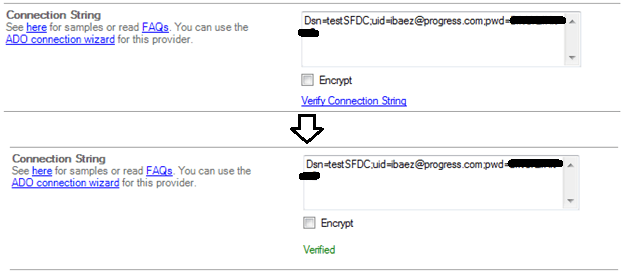 Verify Connection String
