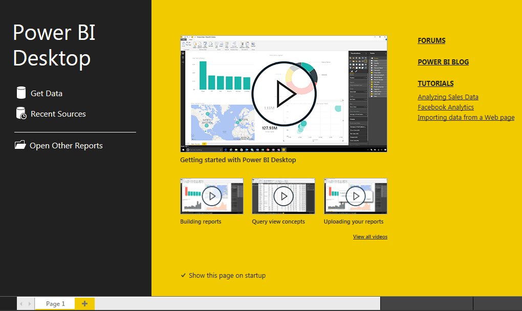 Launch Microsoft Power BI