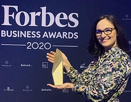 Maria Atanasova Progress Forbes Business Awards