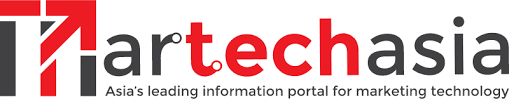 Logo of Martech Asia publication. Martechasia is written in one word in red and black colors