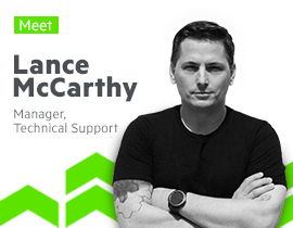 Meet Lance McCarthy, Team Lead DevTools Support Progress