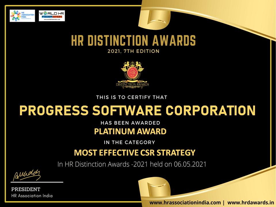 most effective csr strategy platinum award