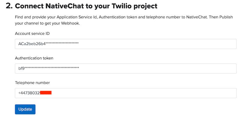 NativeChat Publishing Twilio