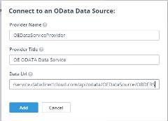 Once the OData Data Provider is added, you can start developing your mobile application views