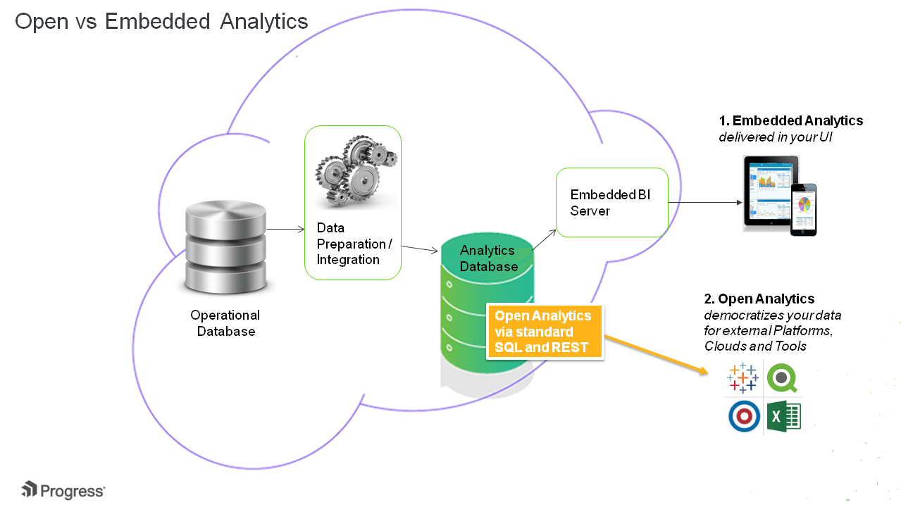 Open Versus Embedded Analytics for Cloud Apps