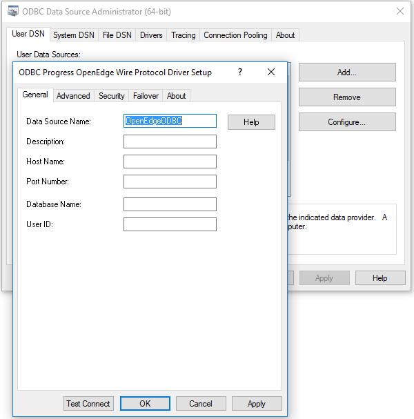 OpenEdge Wire Protocol Driver Setup