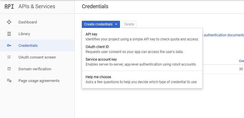 Create OAuth Client