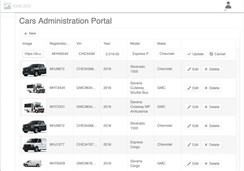 Administrator web interface