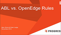 ABL vs OpenEdge Rules Webinar