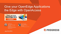 Give your OpenEdge applications the edge with DataDirect OpenAccess