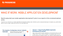 Make It Work: Mobile Application Development