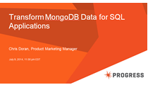 Transform MongoDB Data for SQL Applications