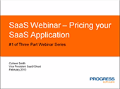 SaaS Webinar - Pricing your SaaS Application