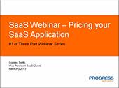 SaaS Webinar - Pricing your SaaS Application